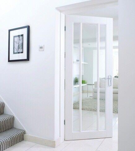 Worcester White Finished Interior Door 3x Glazed