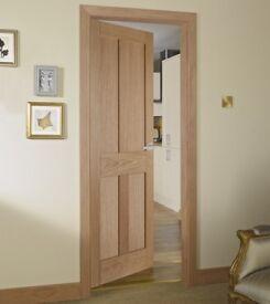 2 x Brand New Howdens Burford Oak Doors - £70 each (Cost over £120 each new)