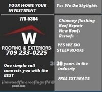 ROOFING  JUST ASK FOR JIMMY