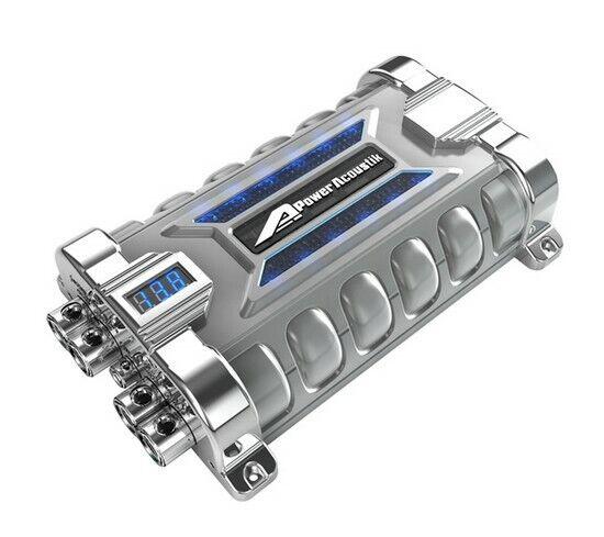 Power Acoustik PCX30F 30 Farad Hybrid Super Capacitor 3 Digit Voltage Display