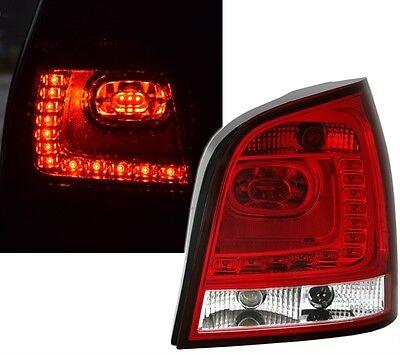 LED RÜCKLEUCHTEN SET 6R Style für VW POLO 9N3 in ROT WEISS von EAGLE EYES