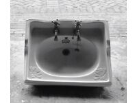 Victorian style bathroom basin 61 x 48cm with taps