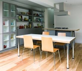 Dining table Formica top (seats 8) £100 or nearest offer if you can pick up today (Mon 10 Oct)