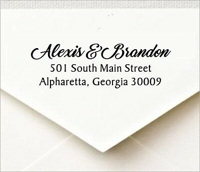 Custom 3 Line Designer Return Address Self Inking Rubber Stamp - 04