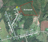 Large plot of land ajoining subdivision.