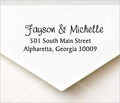 Custom 3 Line Return Address Self Inking Rubber Stamp Designer Font P40