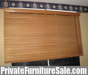 Quality Solid Wood Blinds in great condition