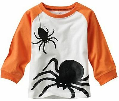 Shirt Top Tee BLACK SPIDER Long Sleeve Boy Girls Trick Treat (Carters Halloween Tee)
