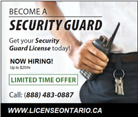 Ontario Security Guard License and Employment $79