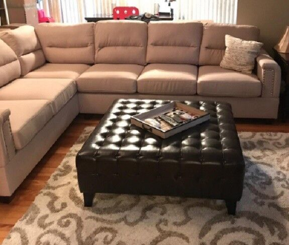 Ottoman Coffee Table Square Footstool