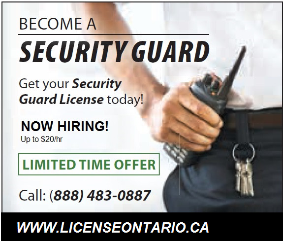 GUARANTEED EMPLOYMENT - HIRING SECURITY GUARDS - Up to $20