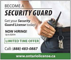 Security Guard Training & Employment $99 - Limited time offer! London Ontario image 1