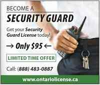 Security Guard Training & Employment $95