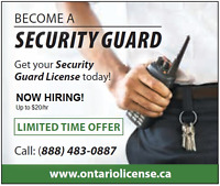 Ontario Security Guard License and Employment $99