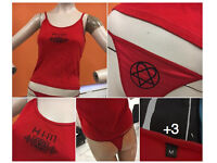 H.I.M. Red vest and g string NEW never worn sticky label still attached HIM Heavy Metal band