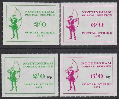 GB 1971 Nottingham Postal Service Strike Mail set MNH......................R279a