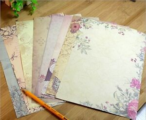 40 X Romantic Flower Writing Letter Paper European Retro Vintage Stationery Set