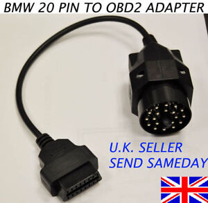 BMW-20-PIN-TO-16-PIN-FEMALE-OBD2-BMW-ADAPTOR-DIAGNOSTIC-SCANNER-CABLE-CONVERTER