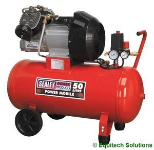 Sealey-Tools-SAC05030-50-Litre-50L-3HP-Air-Compressor-Direct-Drive-V-Twin-Pump