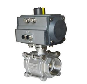 2inch 3- piece Pneumatic Actuated Ball Valve#140012