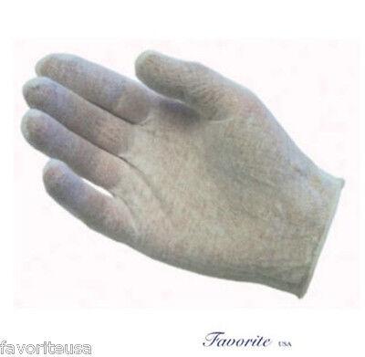 Cotton White Lisle Inspection Ladies Gloves 2 Dz Pairs