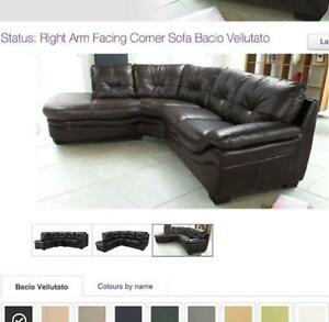 Brown Leather Corner Sofas | eBay
