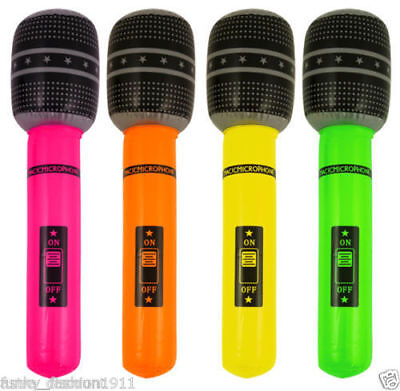 Inflatable Microphone Blow Up Stag Hen Kids Party Novelty Music Instruments