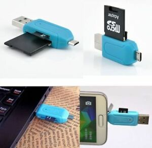 USB Micro USB OTG Adapter Memory Card Reader for Phone Compute