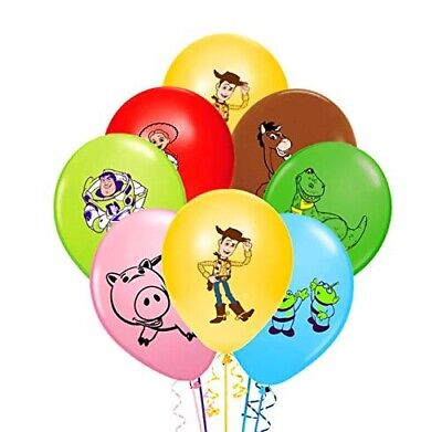 """7 X 12"""" TOY STORY Character Latex Balloons Party Decoration - Birthday Party"""