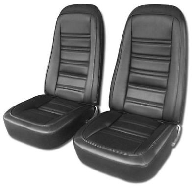 1976-1978 C3 Corvette Leather Like Seat Covers in Black Blk Leather Like Cover
