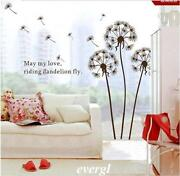 Removable Wall Stickers Dandelion