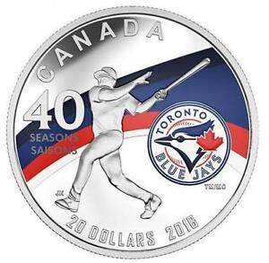 2016 Canada Toronto Blue Jays 40th Year 1 oz Silver Coin