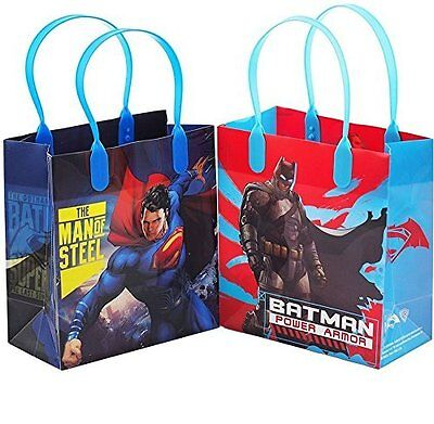 12PCS DC Batman vs Superman Authentic Goodie Party Favor Gift Birthday Loot Bags](Batman Party Bags)