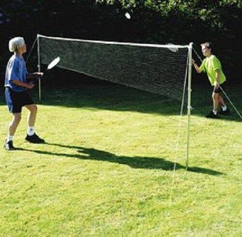 Neu Badminton & Tennis Kinder Erwachsene Garten Spaß Set - Weiß
