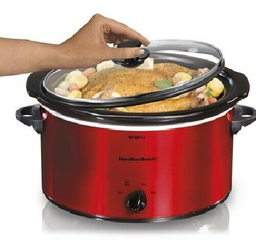 Hamilton Beach 5 Quart Portable Slow Cooker  - 1.25 gal - Re