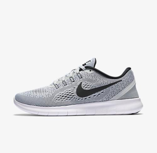 Nike Free RN 831509-101 White Black Grey OREO Women