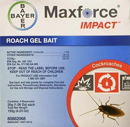 Bayer Impact Roach Bait Maxforce Gel, 4 X 30g Syringes