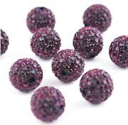 10mm Purple Beads