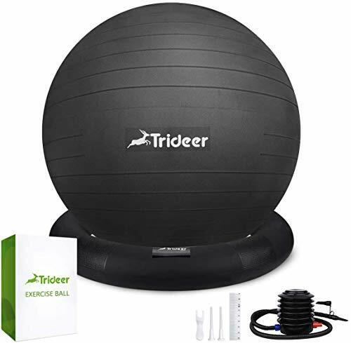 Trideer Ball Chair Exercise Stability Yoga Ball Base Office
