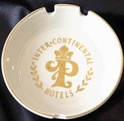 Vintage INTERCONTINENTAL HOTEL PARIS China Ashtray