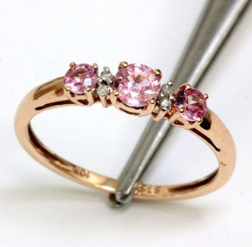 Vintage Pink Diamond Rings Ebay