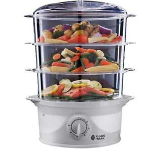 Russell Hobbs 21140 800W 9L 3 Tier Fast Heating Electric Vegetable Food Steamer