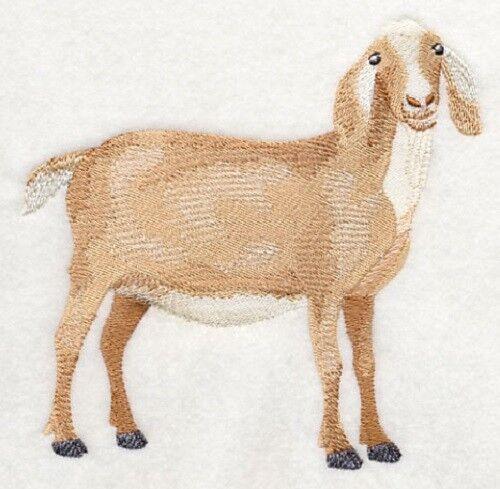 Embroidered Sweatshirt - Nubian Goat #3 J7278