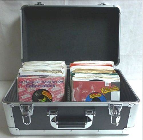 """7"""" or 45 Vinyl Record Double Compartment Euro Style Case (holds 250 + 7"""" Vinyl)"""