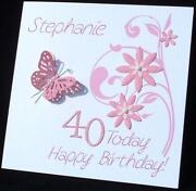 Handmade 70th Birthday Card