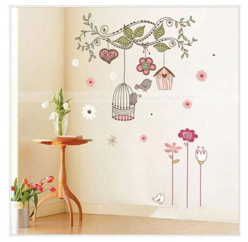 Wall Art Stickers Dunelm : Floral wall art stickers