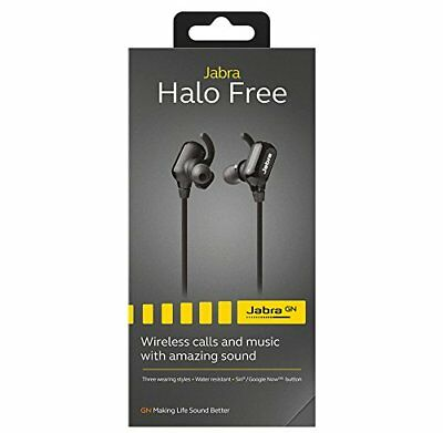 JABRA Halo Free Bluetooth Headset / Wireless / 3 wearing styles / BLACK / $79.99 for sale  Shipping to India
