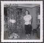 Vintage Tinsel Christmas Tree