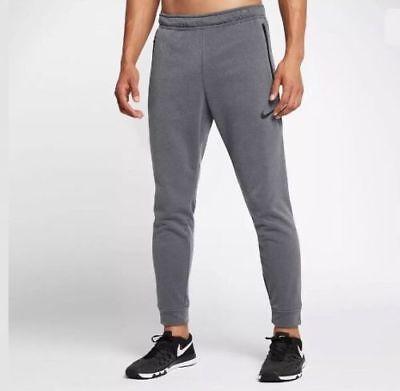 Nike Men's SZ XL Dri-Fit Max Gray/Black Training Pants Joggers 833383-021 NWT