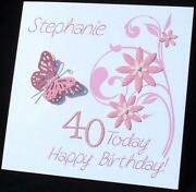 Handmade 50th Birthday Card